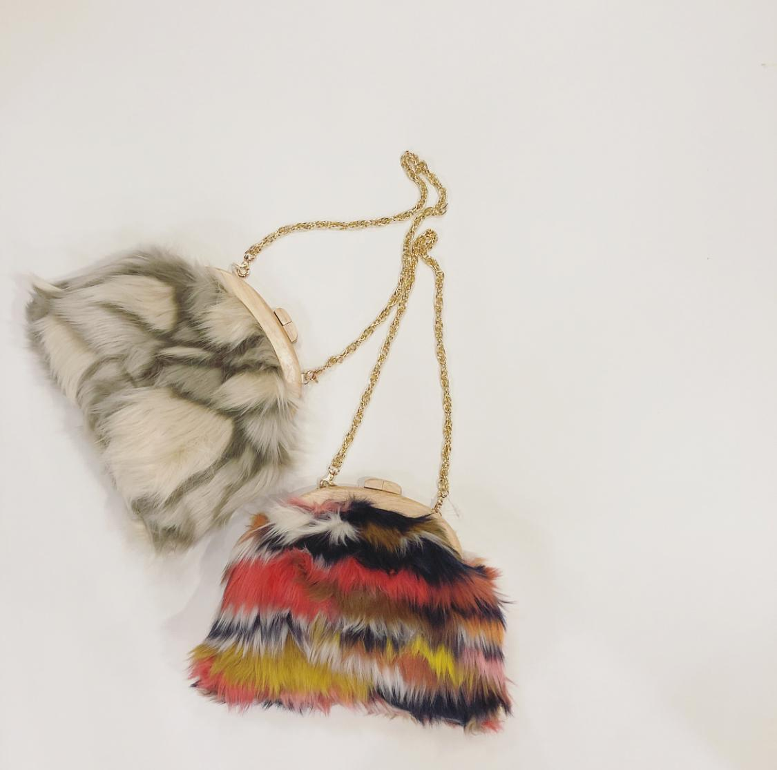*mix fur bag*