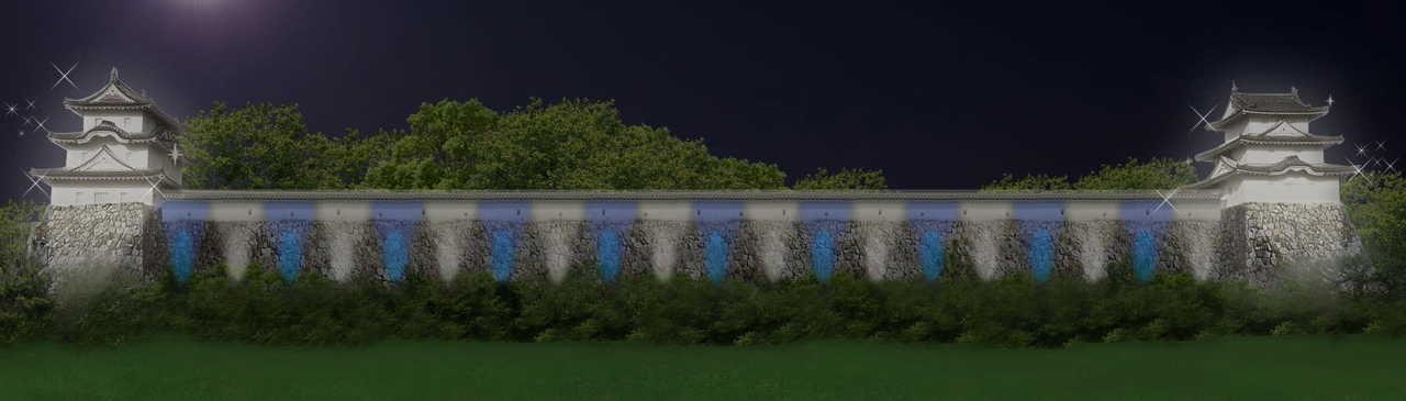 光の明石城 櫓・石垣ライトアップ
