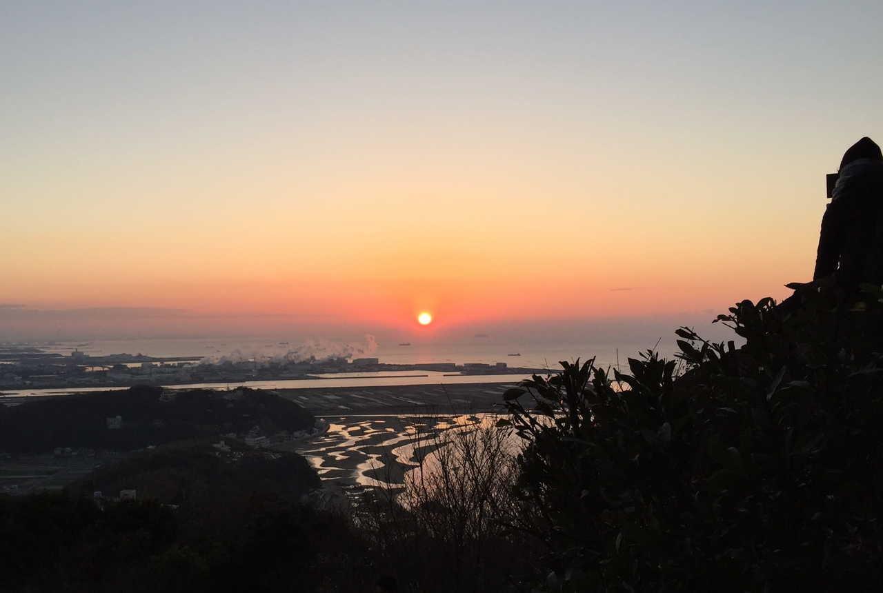 御津自然観察公園 初日の出参観