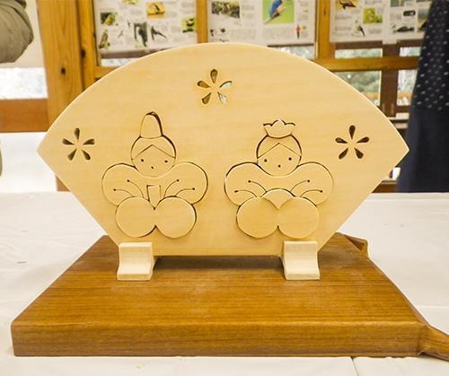県立国見の森公園プログラム 糸のこ教室(組木ひな人形)