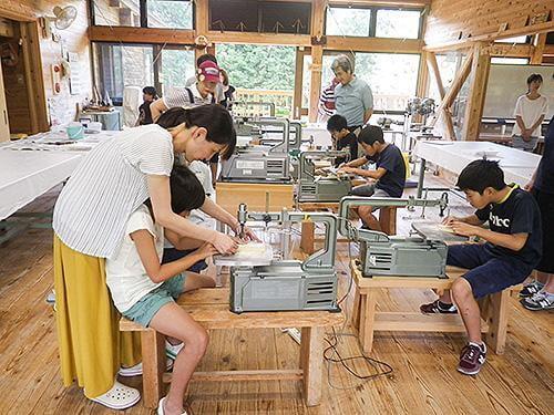県立国見の森公園プログラム 糸のこクラフト(五月人形)