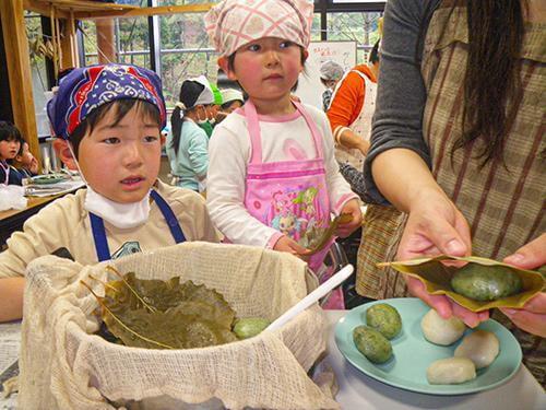 【中止】県立国見の森公園プログラム 昔懐かし 柏餅作り