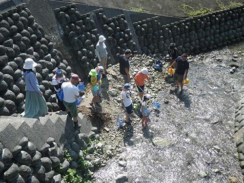 県立国見の森公園プログラム 小川の生き物を探そう(夏休み企画)