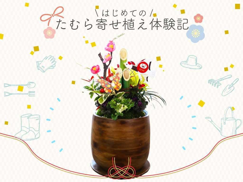【お正月飾り】可愛すぎる門松の寄せ植え講習【編集部員たむらの体験記】
