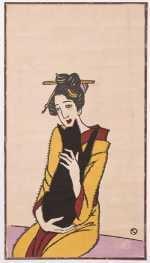 500-075_竹久夢二_黒猫を抱く女(柳屋版)_大正9年_木版画_個人蔵.jpg
