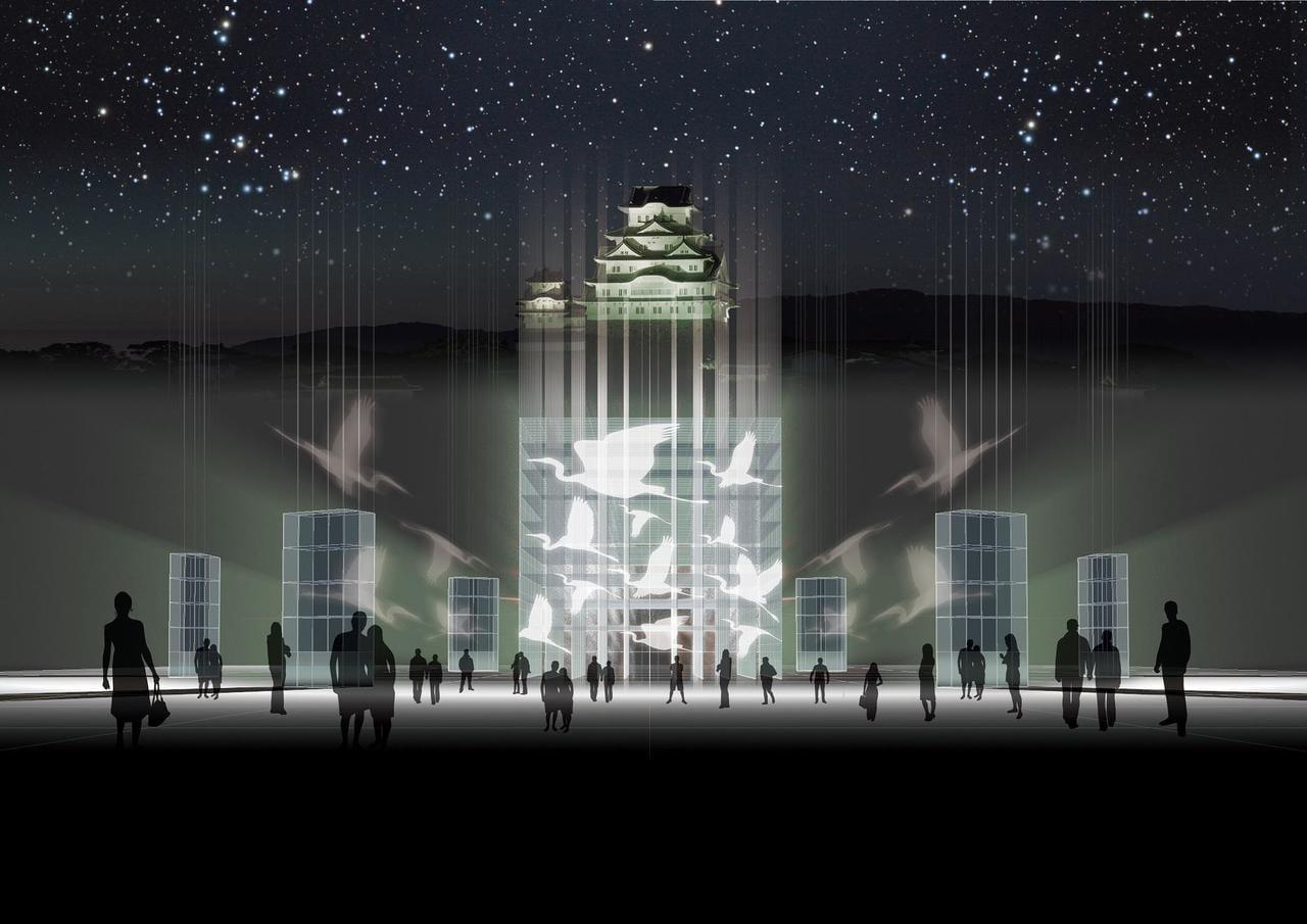 世界遺産が光で彩られる冬のナイトイベント☆「姫路城 光の庭(CASTLE OF LIGHT)」