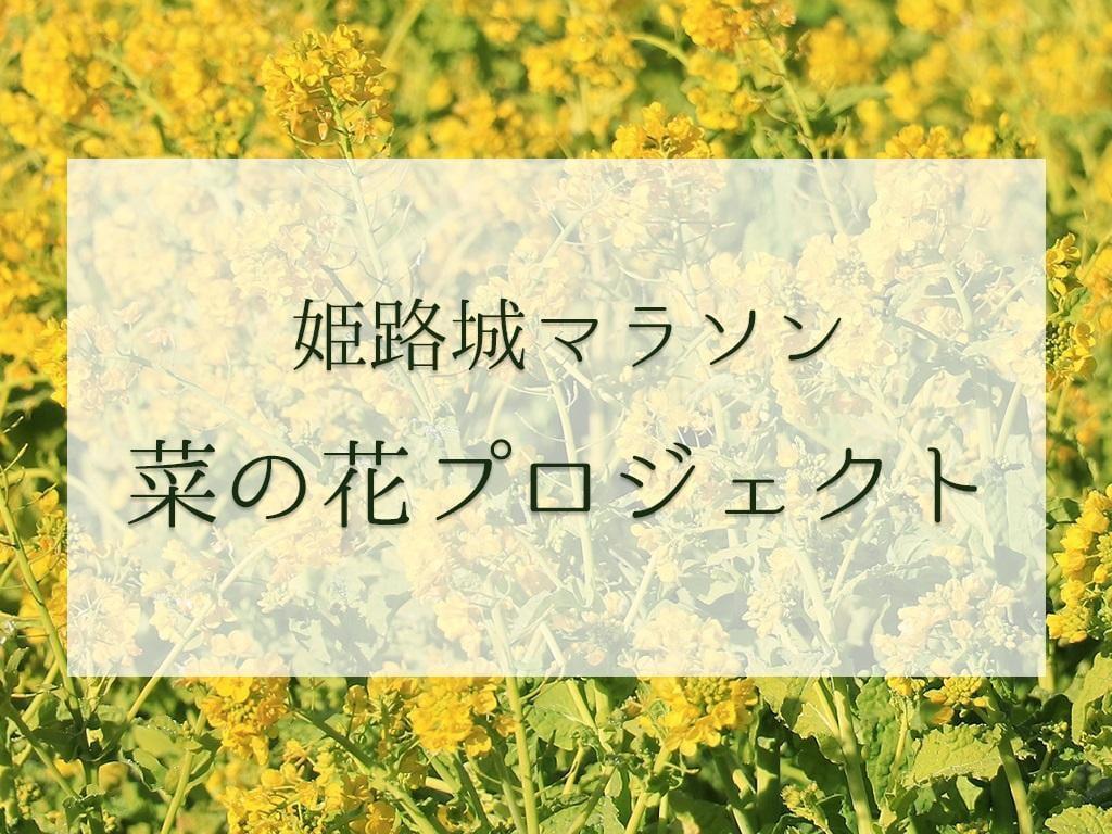 姫路城マラソン菜の花プロジェクト