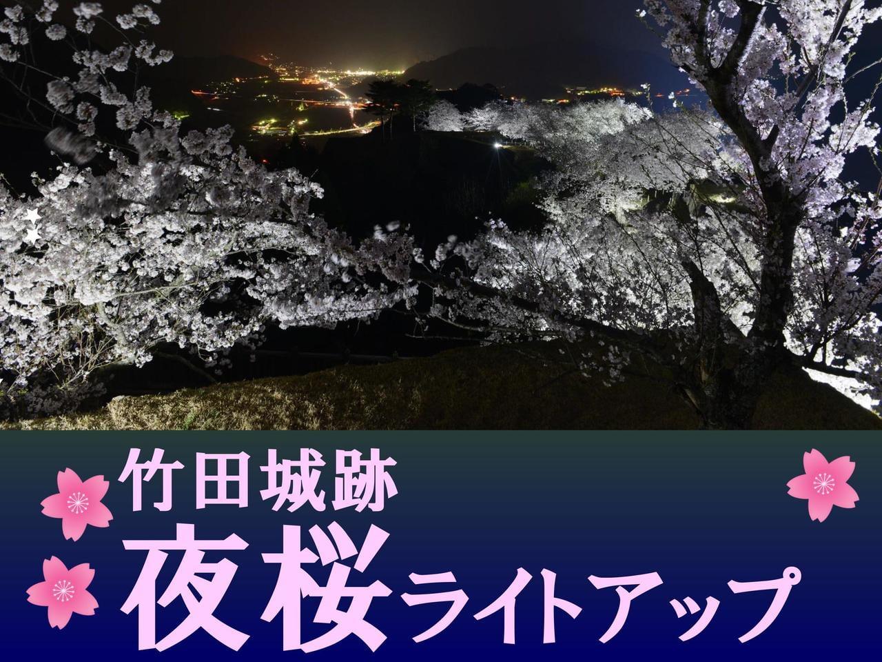 【兵庫・朝来】竹田城跡 夜桜ライトアップ~日本100名城~【2020】