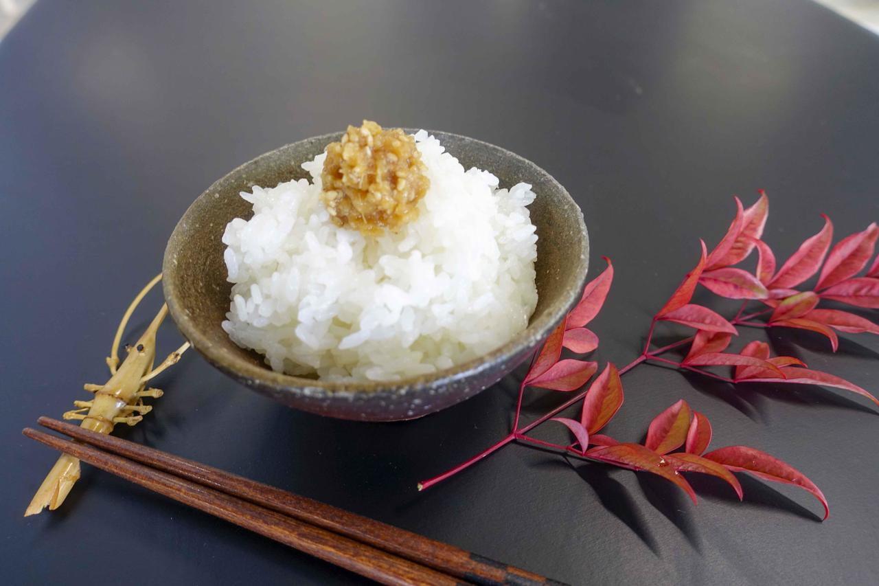 もち大豆の生姜みそがのったごはんの写真.jpg